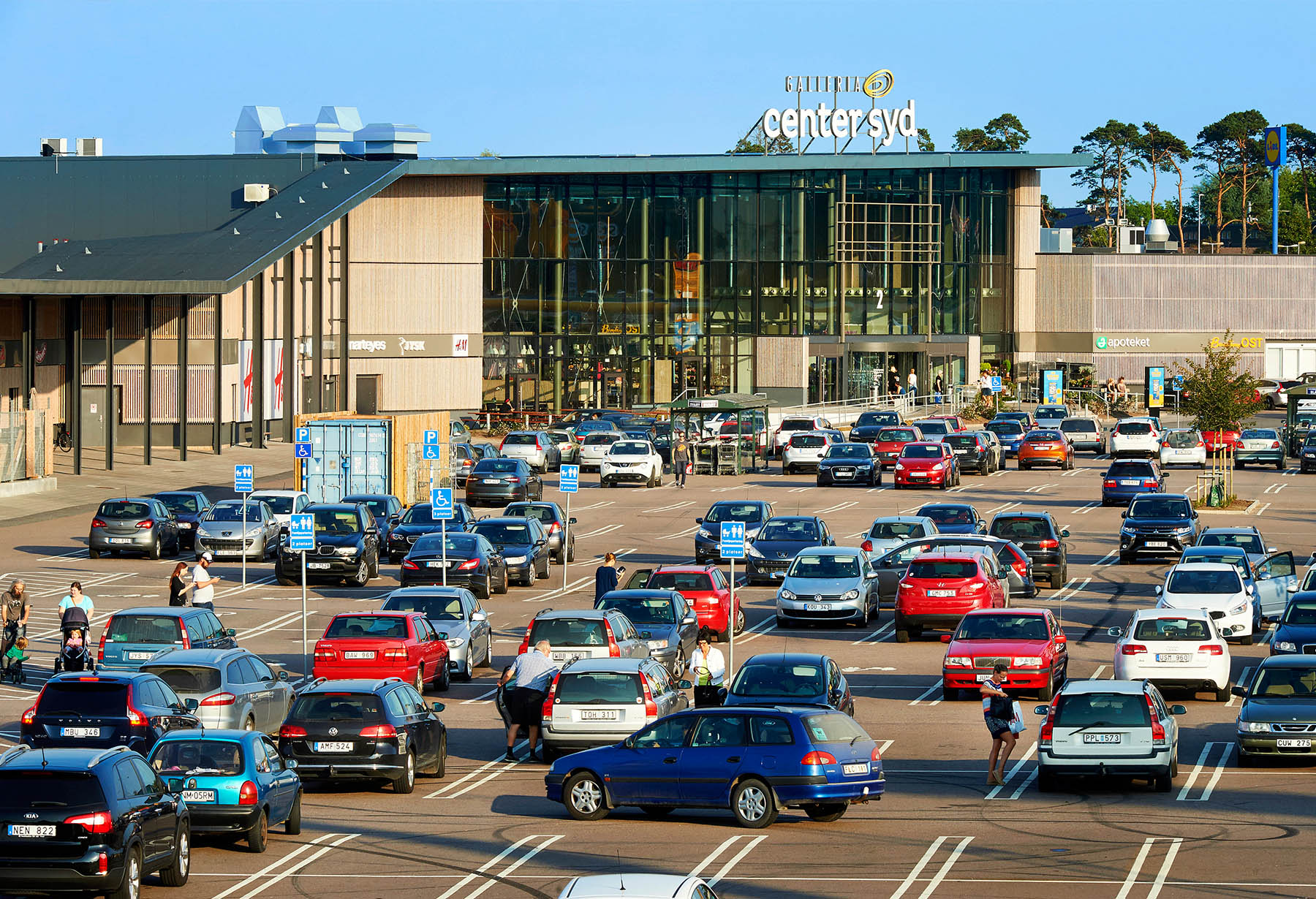 Mer än 3000 fria parkeringsplatser på Handelsplats Center Cyd