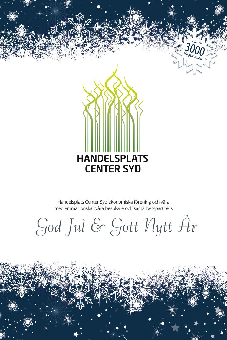 HANDELSPLATS CENTER SYD ÖNSKAR GOD JUL GOTT NYTT ÅR